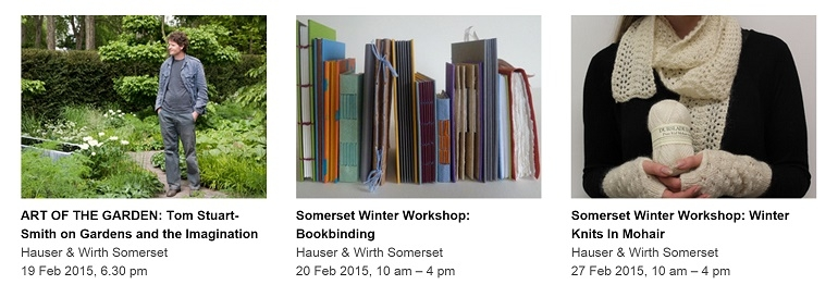 Some great events coming up at Hauser & Wirth