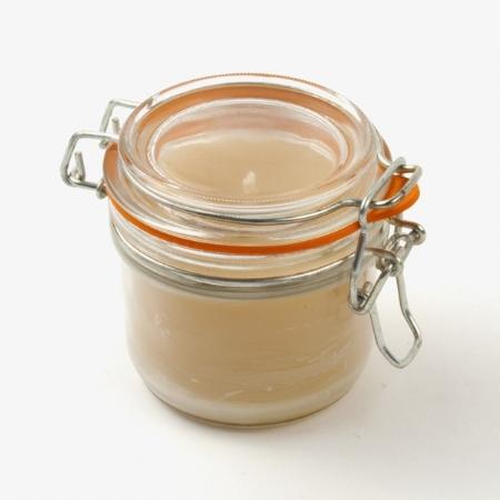 Beeswax jar candle