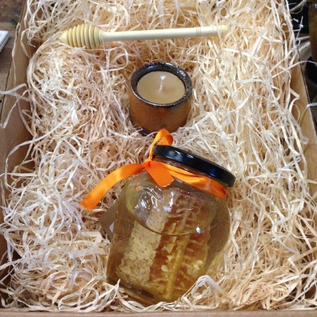 Gift Box - Honey Urn, Leach Candle and Honey Dipper
