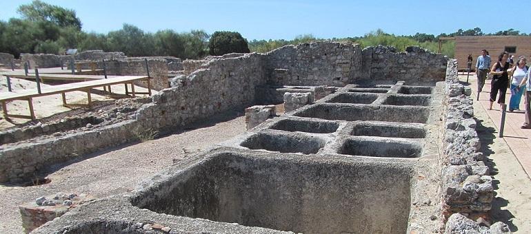 Roman ruins of Troia I Portugal